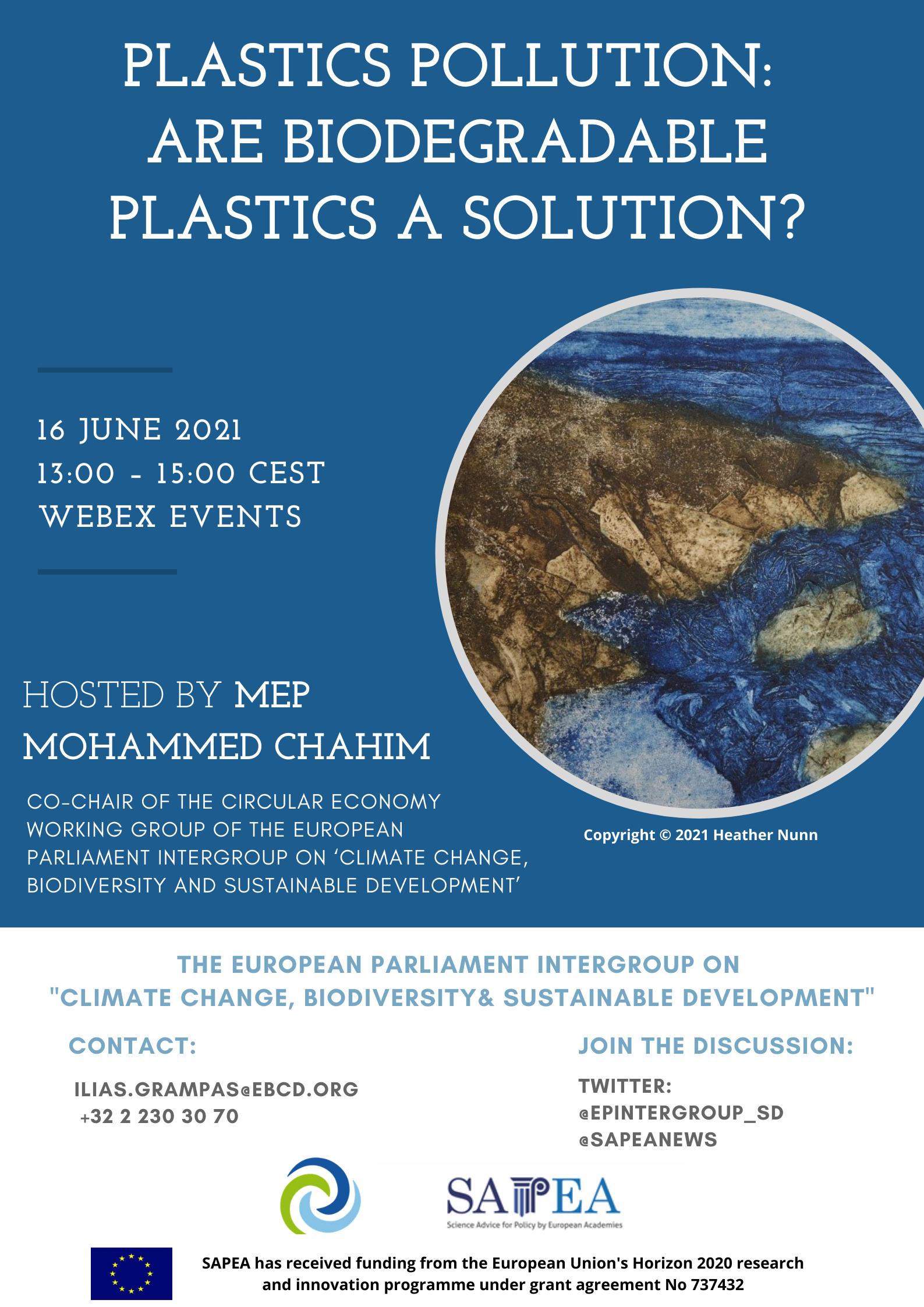 plastics event poster