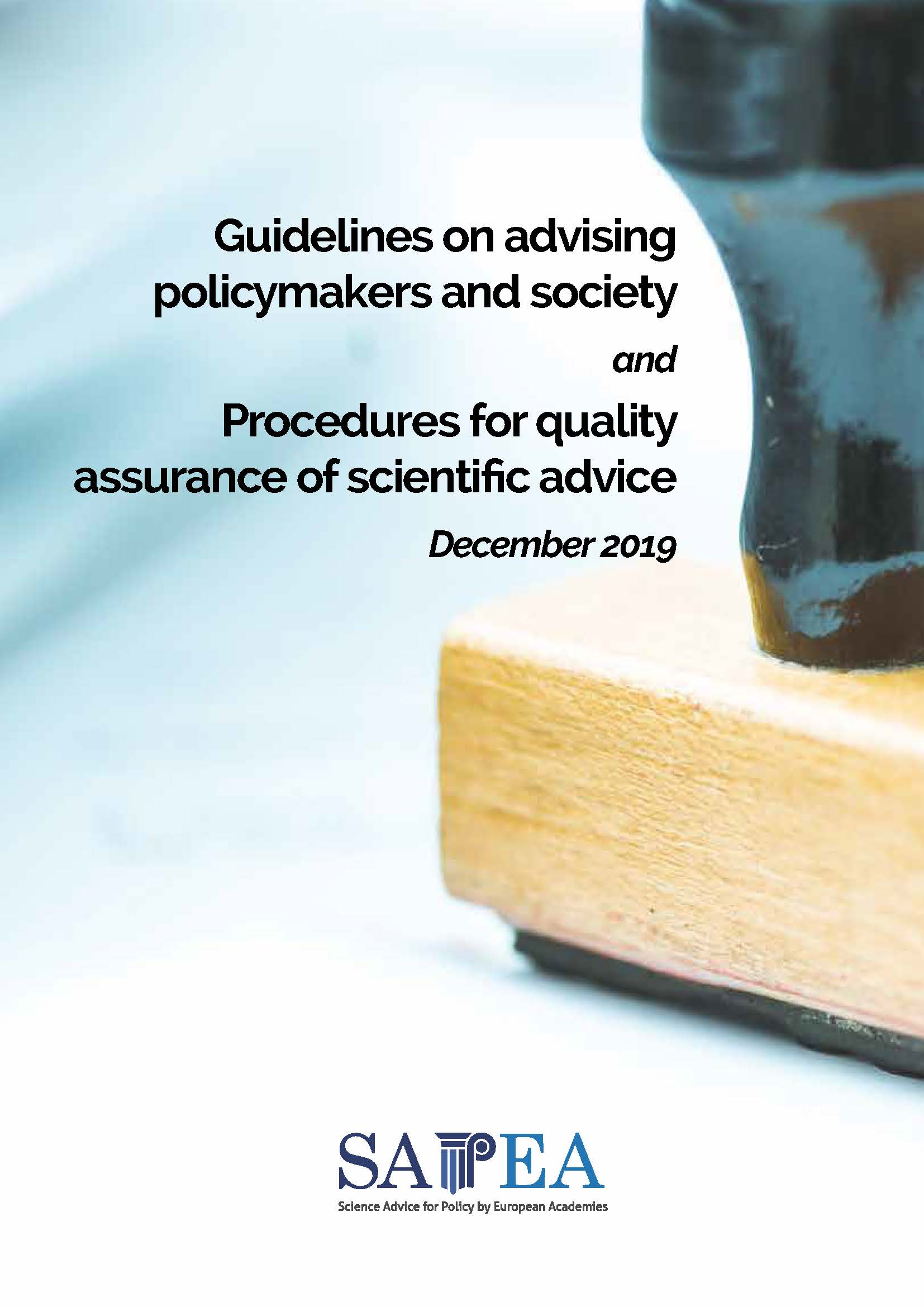 QA guidelines cover
